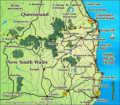 Map Of Byron Bay Clickable locality map for the Ballina, Byron Bay, Tweed Coast